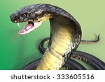 Close-Up Of 3D king Cobra The world