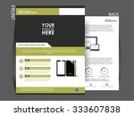 vector flyer  brochure magazine ... | Shutterstock .eps vector #333607838