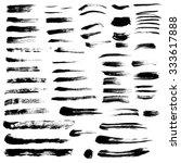 set of vector brush strokes... | Shutterstock .eps vector #333617888