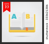 icon of open book | Shutterstock .eps vector #333621386