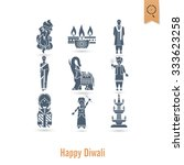 diwali. indian festival icons.... | Shutterstock .eps vector #333623258