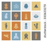 diwali. indian festival icons.... | Shutterstock .eps vector #333623270
