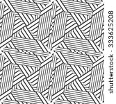 black and white vector seamless ... | Shutterstock .eps vector #333625208