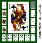 playing cards of clubs suit and ... | Shutterstock . vector #333626033