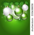 green christmas background with ... | Shutterstock . vector #333638858