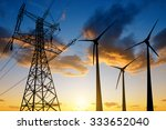 high voltage tower and wind...   Shutterstock . vector #333652040