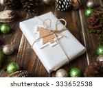 beautiful xmas decoration with... | Shutterstock . vector #333652538