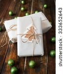 gifts with natural packaging on ...   Shutterstock . vector #333652643