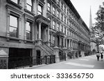 harlem  new york city  in black ... | Shutterstock . vector #333656750