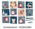 vector   christmas card... | Shutterstock .eps vector #333665084