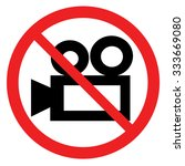 no video camera sign