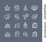 party icons on dark background  ... | Shutterstock .eps vector #333669566