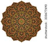 oriental  rich mandala with... | Shutterstock .eps vector #333677690