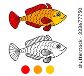 Fish. Coloring Book Page....