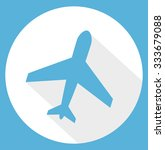 airplane trendy icon. plane... | Shutterstock .eps vector #333679088