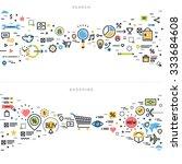 flat line design vector... | Shutterstock .eps vector #333684608