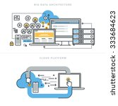 flat line design concepts for... | Shutterstock .eps vector #333684623