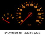 illuminated dashboard... | Shutterstock . vector #333691238