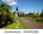 Stock photo george washington statue in boston public garden boston 333693584