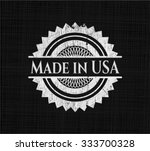 Made In Usa Chalkboard Emblem...