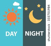 Day And Night Flat  Vector...