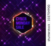 banner for cyber monday sale...   Shutterstock .eps vector #333704900
