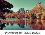 central park autumn and... | Shutterstock . vector #333710228