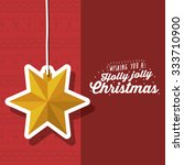 merry christmas concept with... | Shutterstock .eps vector #333710900