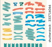 big  set of ribbons and labels... | Shutterstock .eps vector #333716066