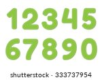 green numbers 0   9 on white... | Shutterstock .eps vector #333737954