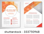 vector brochure flyer design... | Shutterstock .eps vector #333750968