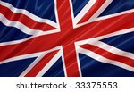 flag of united kingdom. flag... | Shutterstock . vector #33375553
