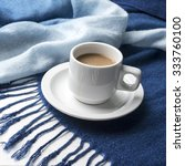 coffee and scarf background on... | Shutterstock . vector #333760100