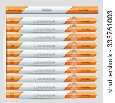 music playlist ranking... | Shutterstock .eps vector #333761003