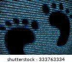 footprint in digital background ...   Shutterstock . vector #333763334