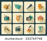 culture and art vector icons | Shutterstock .eps vector #333769748