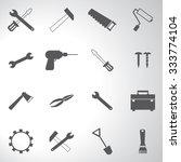 tools icons set illustration | Shutterstock .eps vector #333774104
