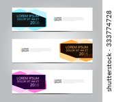 vector design banner... | Shutterstock .eps vector #333774728