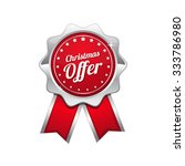 christmas offer red vector icon ... | Shutterstock .eps vector #333786980