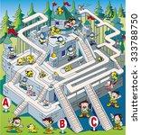 maze of citadel | Shutterstock .eps vector #333788750