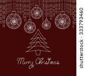 christmas greeting card with... | Shutterstock .eps vector #333793460
