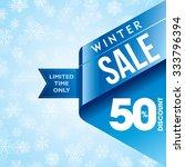 winter sale poster design... | Shutterstock .eps vector #333796394