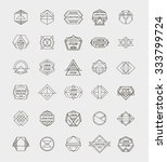 set of retro line abstract... | Shutterstock .eps vector #333799724