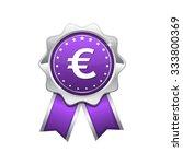 euro sign violet vector icon... | Shutterstock .eps vector #333800369