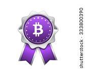 bit coin violet vector icon... | Shutterstock .eps vector #333800390