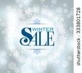 winter sale poster design... | Shutterstock .eps vector #333801728
