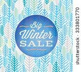 winter sale poster design...   Shutterstock .eps vector #333801770