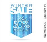winter sale poster design... | Shutterstock .eps vector #333802544