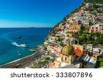 ship is approaching to positano ... | Shutterstock . vector #333807896