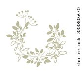 vector flower wreath. vintage... | Shutterstock .eps vector #333808670